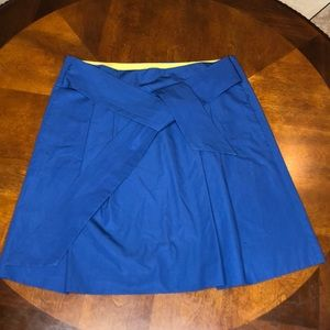 J Crew Pleated Front Tie Skirt Size 2